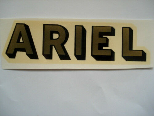 Ariel Picture Lettering Decal