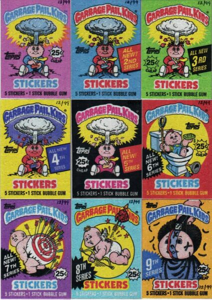 GARBAGE PAIL KIDS METAL WRAPPER COMPLETE SET OF 15 1ST-15TH #1299 ADAM BOMB