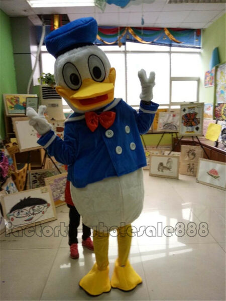 Donald Duck Mascot Costume Halloween Parade Suits Cosplay Fancy Dress Adult 2019