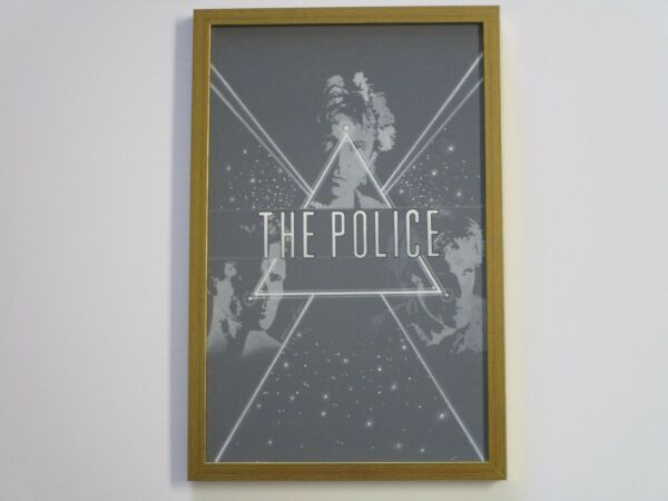 LARRY ORTIZ ILLUSTRATION PAINTING ALBUM COVER DESIGN FOR THE POLICE ABSTRACT