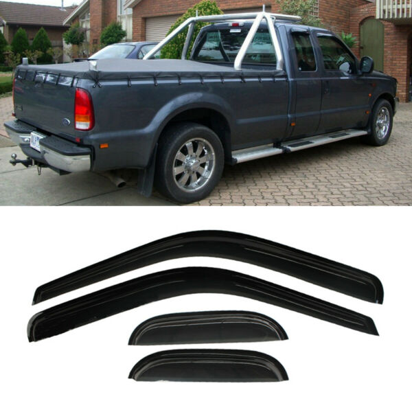 Window Visor Vent Shade For 99-16 Ford F250F350F450 Super Duty Extended Cab 4P