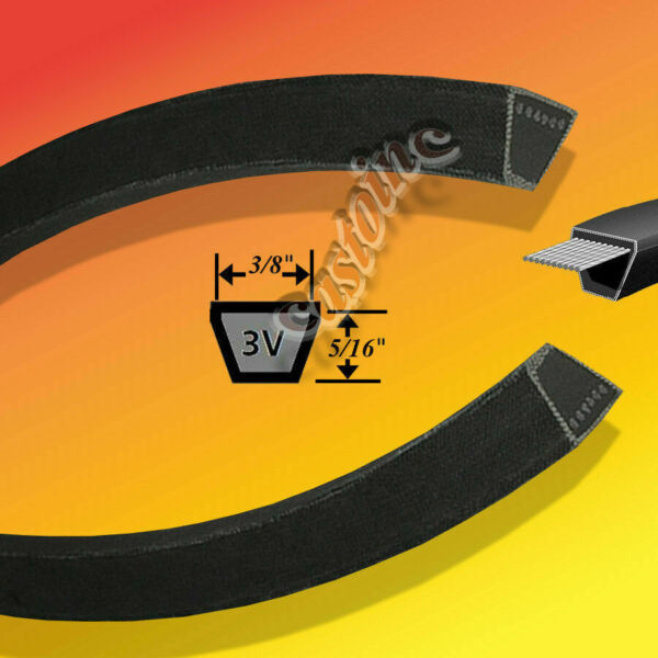 3V900 Snow Blower Belt Fits BobcatRansome Length 38