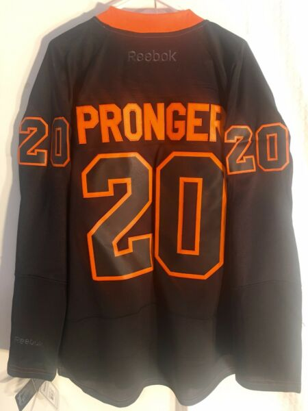 Reebok Premier NHL Jersey Philadelphia Flyers Chris Pronger Black Ice sz XL