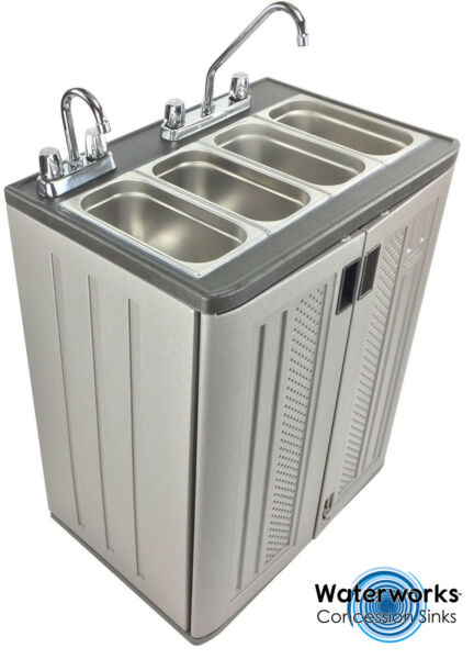 Mobile Concession Sink Portable Food Truck Trailer 4 Compartment Hand Wash Hot $779.00