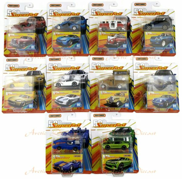 2019 Matchbox Superfast 50th Anniversary Pick Your Vehicles New Cars Added 1018