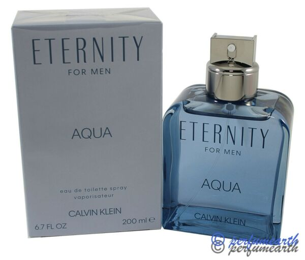 ETERNITY AQUA by Calvin Klein for Men Cologne 6.76.8 oz200 ml edt New in Box