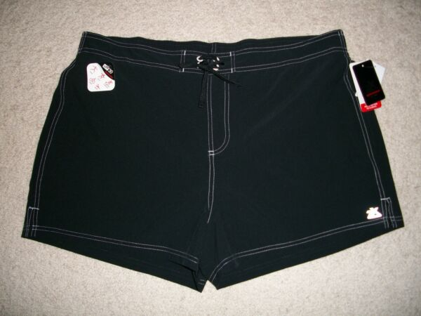 NWT Zeroxposur Size XL Swim Shorts Bottom with Built In Briefs Black $49 UPF 30+