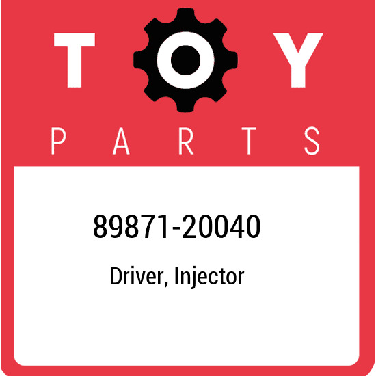 89871-20040 Toyota Driver injector 8987120040 New Genuine OEM Part