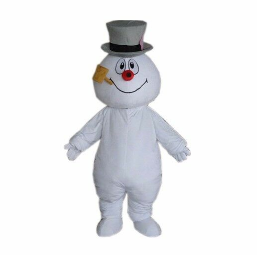 Snowman Mascot Costume Christmas Frosty Walking Adult Cartoon Party Suit Cosplay