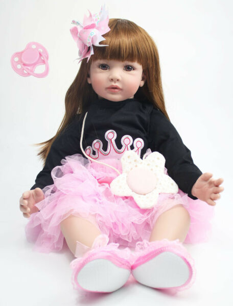 Pinky Reborn Toddler 24inch Real Life Size Reborn Baby Dolls Adorable Girls Toys