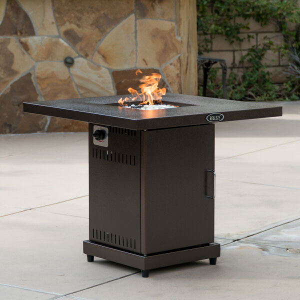 Firepit Table Cover Lpg Gas Outdoor Fireplace Propane Heater Patio 40000 BTU