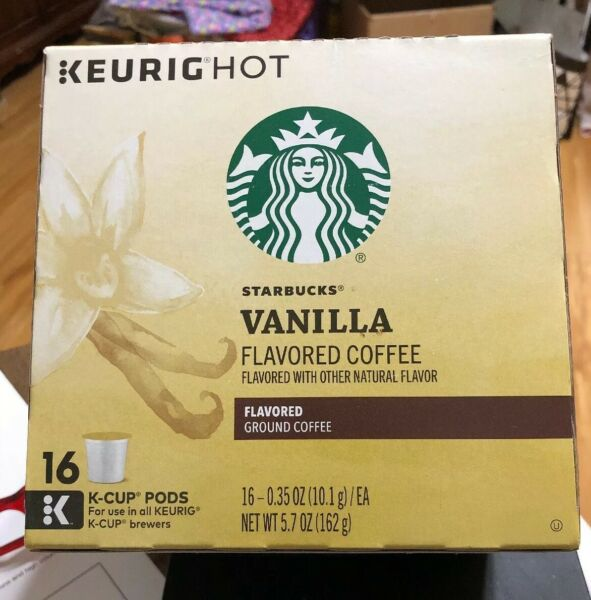 Keurig Starbucks Vailla Flavored Coffee K Cup Pods Exp 2 8 20 Qty 16