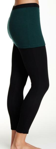 New with Tag - $84 Magid OliveBlack Skirt Overlay Legging Size Women LXL