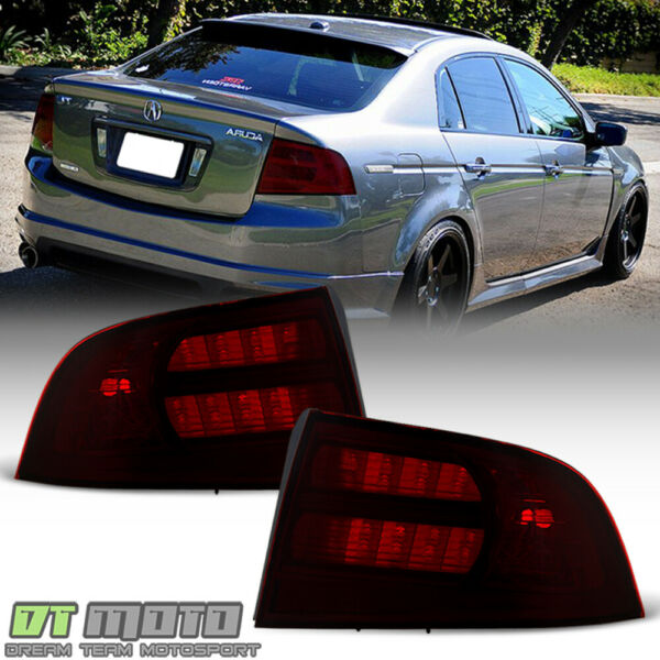 Red Smoke 2004 2005 2006 2007 2008 Acura TL Type S Tail Lights Lamps Aftermarket $82.99