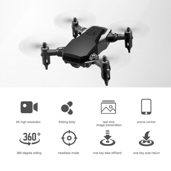 LF606 Foldable Mini Drone w/ HD Camera 4K WiFi FPV Quadcopter 360° Rollover X5A8