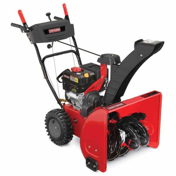 Red Craftsman 24 Inch Un- used Electric start gas engine quality Snowblower