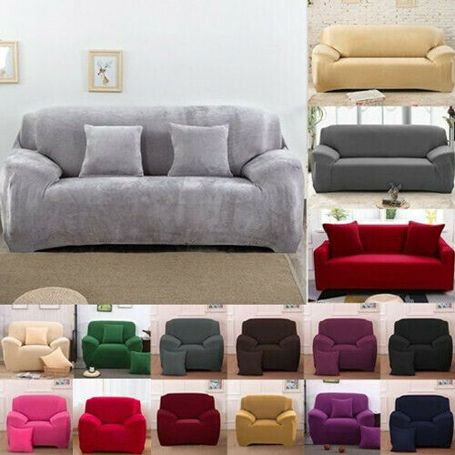 1234 Seater Sofa Slipcover Stretch Protector Settee Couch Cover Washable Fit