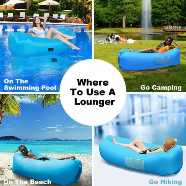 Inflatable Air Sofa Waterproof Light Lazy Bed Lounge Couch Portable Sleeping Bag $25.49