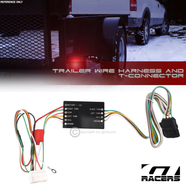 For 2007 2013 Acura MDX Trailer Hitch 4 Way Output Wire Harness T Connector Kit $33.00
