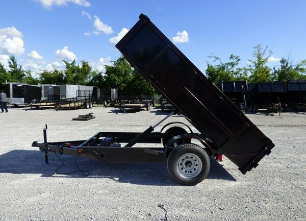 Hydraulic Dump Trailer 5x10 with Brakes 2 Ft. Sides Roofing Dirt Mulch Rock $4550.18