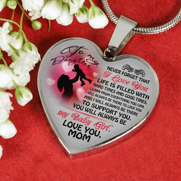 Daughter And Mom Necklace Heart - To My Daughter Love Mom - Gifts From Mom