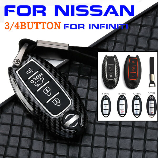 34Button Remote Key Fob Cover Case Key Shell For Infiniti For Nissan Accessorie
