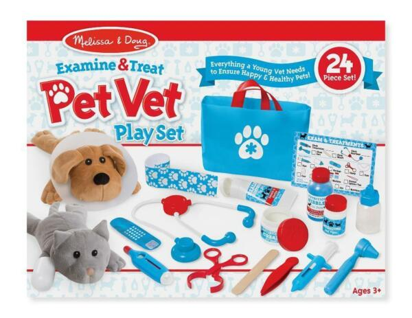 Melissa & Doug  #8520 Examine & Treat Pet Vet Play set