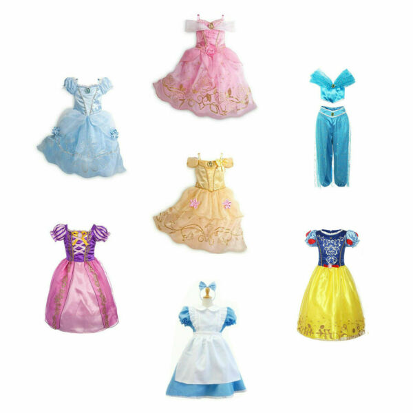 Kids Girls Halloween Costume Princess Fairytale Dress Up Aurora Snow White Alice $14.99
