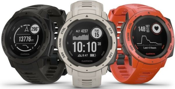 Garmin Instinct Rugged Reliable Outdoor GPS Military Standard Watch 010-02064-00