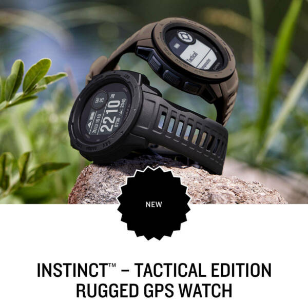Garmin Instinct Rugged Reliable Outdoor GPS Military Tactical Watch 010-02064-70