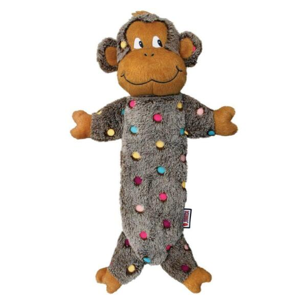 Kong® Low Stuff Speckles Monkey Dog Toy Brown Large