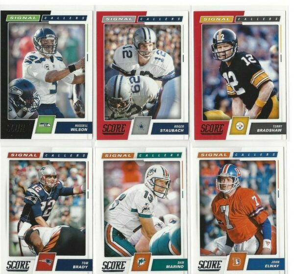2017 Score Signal Callers - Black Parallel - Red Parallel - COMPLETE YOUR SET