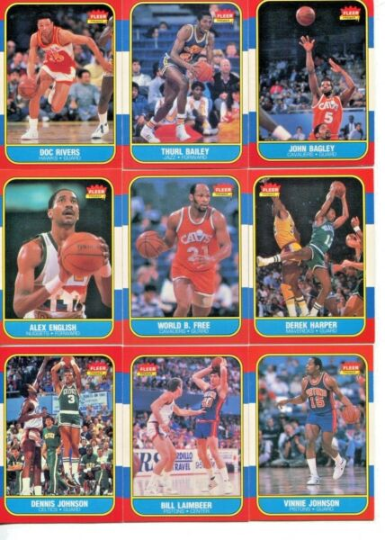1986-1987 Fleer Basketball - Complete Your Set - You Pick NR-MINT Quality Cards