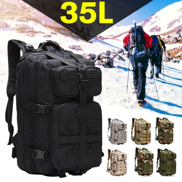 35L Outdoor Military Rucksack Tactical Backpack Army Hiking Trekking Camping Bag