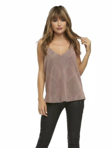 TART Women's Marena Dusty Rose Gold Tank Top Sz XS Sz S Sz M 290871F