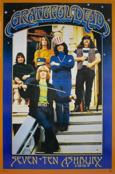 The Grateful Dead 710 Ashbury 1967 Band Shot Poster 24 x 36