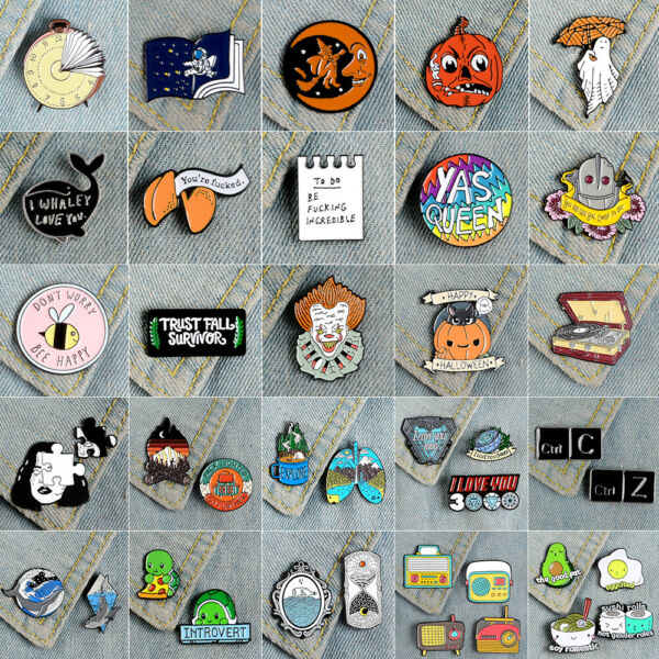 Cute Cartoon Creative Enamel Lapel Collar Pin Brooch Badges Fashion Jewelry Gift