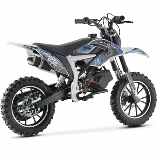 MotoTec 50cc Demon Kids Gas Dirt Bike Blue $399.00