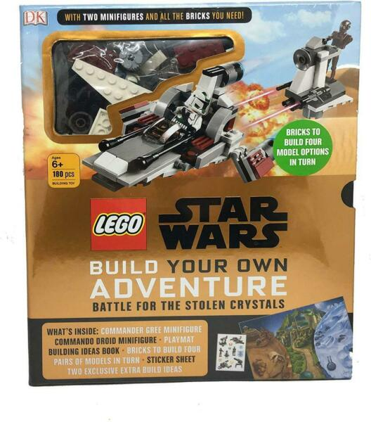 Build Own Adventure Star Wars Battle Stolen Crystals Minifigure Book 180 Bricks