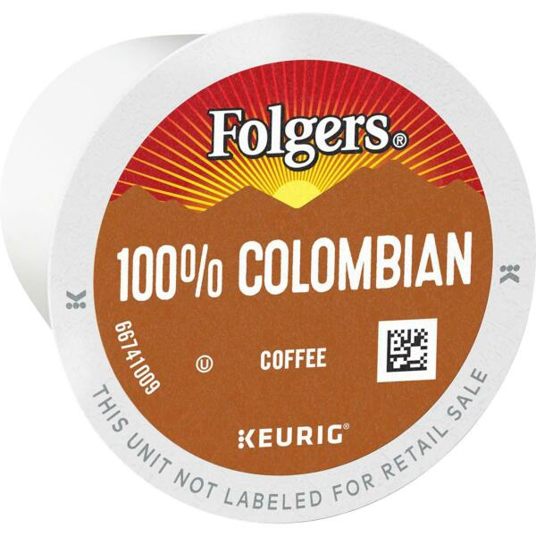 Folgers 100% Colombian Medium Roast Coffee K Cups select quantity