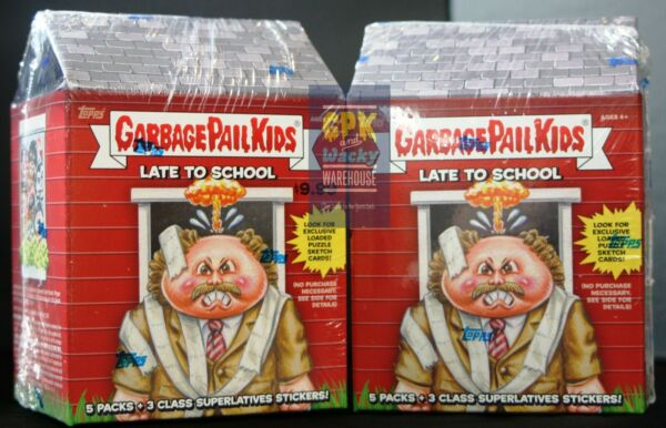 2020 GARBAGE PAIL KIDS LATE TO SCHOOL (2) BOX BLASTER LOT BOTH BOXES SE AND EA