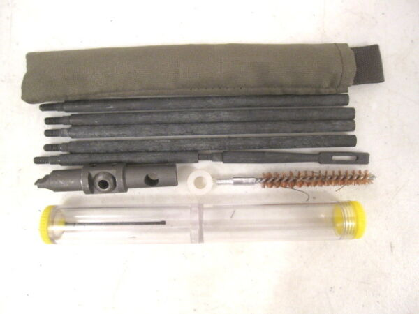 WWII Era US Army USMC M1 Garand Rifle Buttstock Cleaning Kit w Oiler