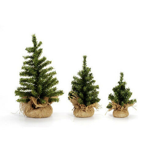 Darice Artificial Canadian Pine Tree with Burlap Base 12 inch Tabletop 60 tips