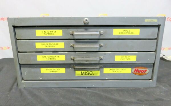 Huot Tool Box Taps Dies Handles CNC Machine Tools Tap Machinist Toolmaker
