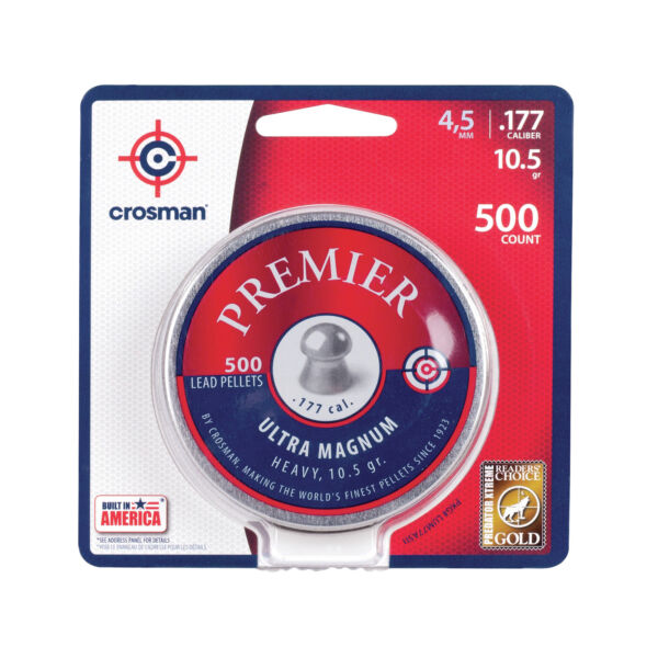 Crosman Premier Domed Pellet .177 10.5 Grain Per 500 LUM77 $15.87