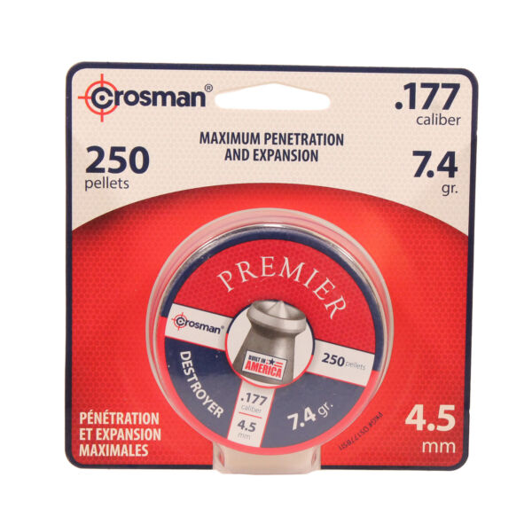 Crosman Air Gun Destroyer Pellets .177 Pointed Dished Hollow Point 250 pk DS177 $8.86