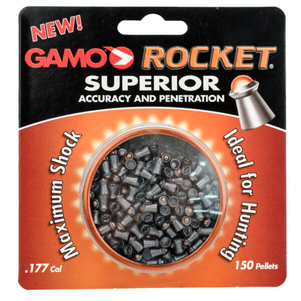 Gamo Rocket Air Gun Pellets 632127454 .177 Caliber 866 FPS 150 pack 632127454 $12.44