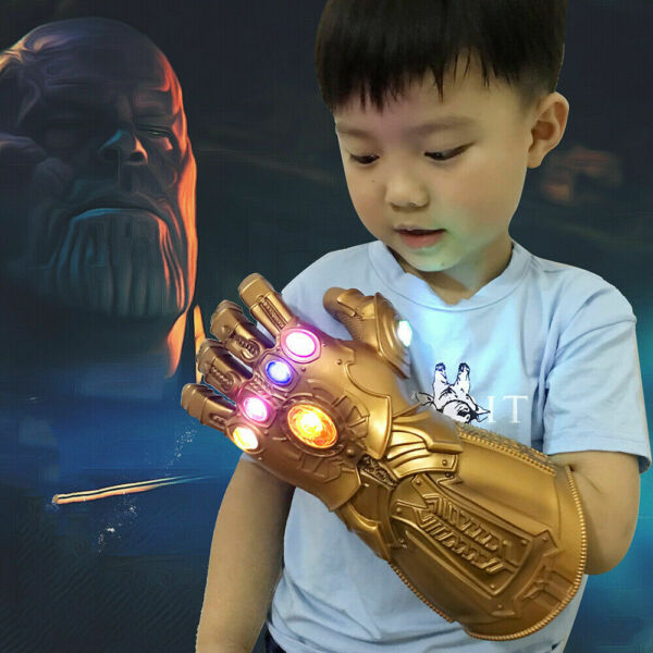 Thanos Infinity War Gauntlet w/LED Light Glove for Kid Size Marvel Avengers Toy