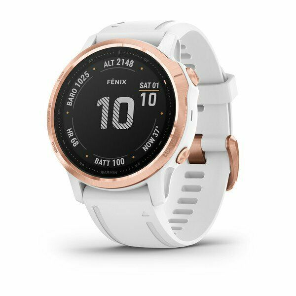 Fenix 6S - Pro editions Rose gold-tone with white band #010-02159-11