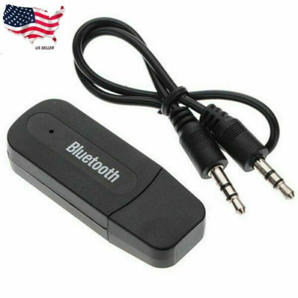 Wireless USB Bluetooth Music Audio Receiver Adapter 3.5mm Dongle A2DP Car A123 $2.98